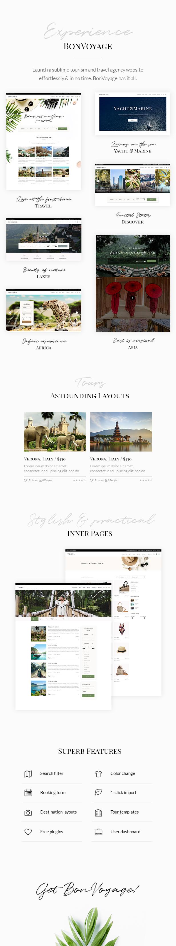 BonVoyage - Travel Agency and Tour Theme - 1
